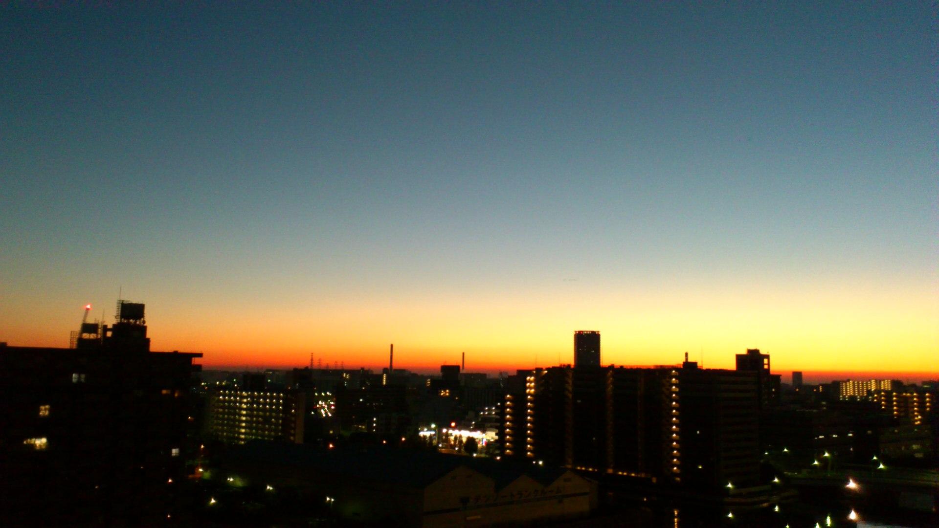 月食明けの朝は