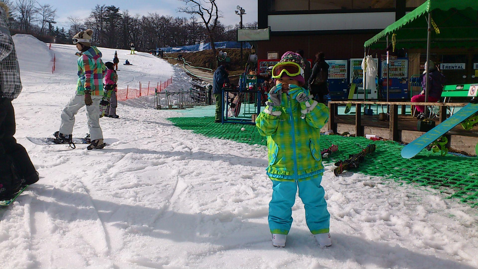 スキーデビュー!
